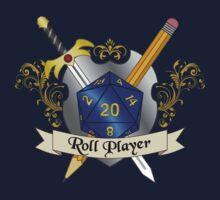 Roll Player Blue d20 Crest Kids Tee