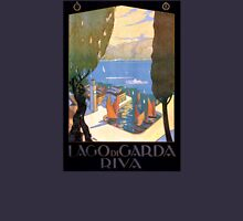 Lago di Garda Lake Garda Vintage Poster Restored Unisex T-Shirt