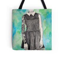 Tattooed Girl In A Dress Tote Bag