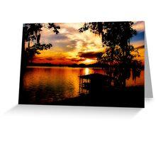 Lake Blackshear Sunset Greeting Card