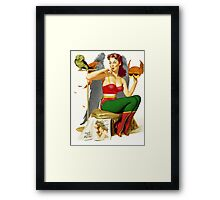 Hawkgirl Pin-Up 01 Framed Print