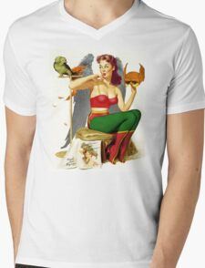 Hawkgirl Pin-Up 01 Mens V-Neck T-Shirt