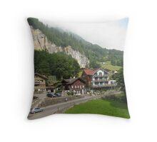 To Live in Lauterbrunnen, Switzerland Throw Pillow