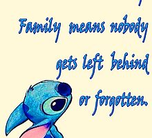 Disney Lilo & Stitch - Ohana Quote by manupremoli