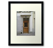 A Door in Zurich Framed Print