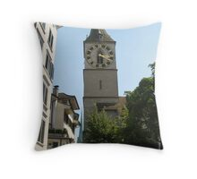 Two Kirches - Zurich, Switzerland Throw Pillow
