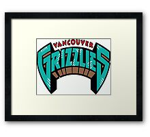 Vancouver Grizzlies Logo Framed Print