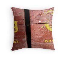 Old Carlsberg Wooden Boxes Throw Pillow