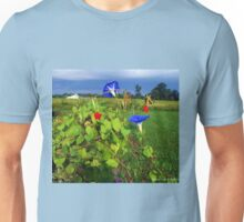 Swallowtails, Cyprus Vines, and Morning Glorys Unisex T-Shirt