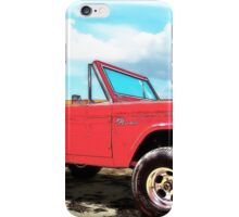 Surf Bronco Beyond the 4 Wheel Drive Only Sign Padre Island iPhone Case/Skin