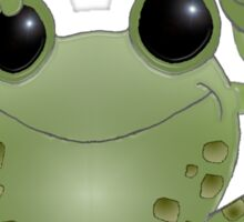 Toadally Awesome! Cartoon toad with thumb up! Sticker