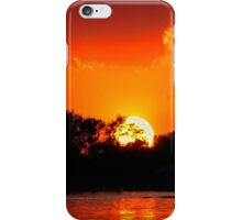 Sunset on the Chain of Lakes iPhone Case/Skin