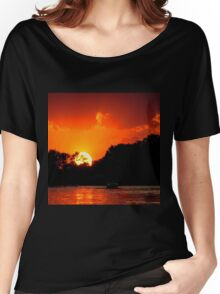 Sunset on the Chain of Lakes Women's Relaxed Fit T-Shirt