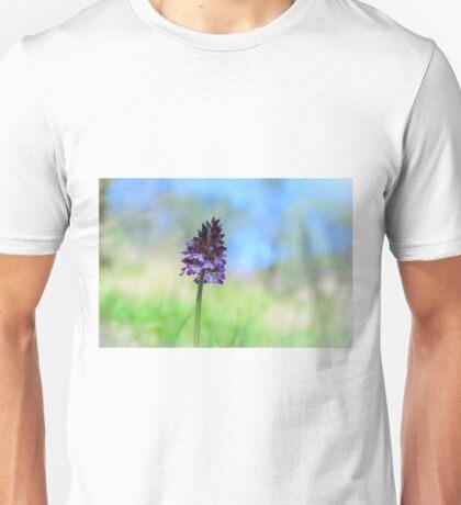 Orchis purpurea, Acquedotto Romana, Spello, Umbria, Italia Unisex T-Shirt