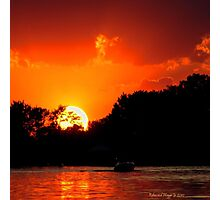 Sunset on the Chain of Lakes Photographic Print