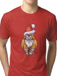 Ginger Cat Christmas Tri-blend T-Shirt