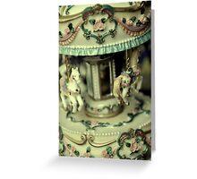 Vintage Miniature Carousel Greeting Card