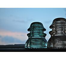 Insulator at Dusk Photographic Print