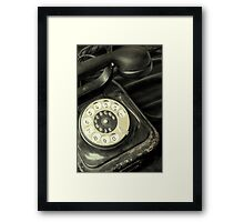 Old Telephone Framed Print