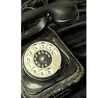 Old Telephone Photographic Print