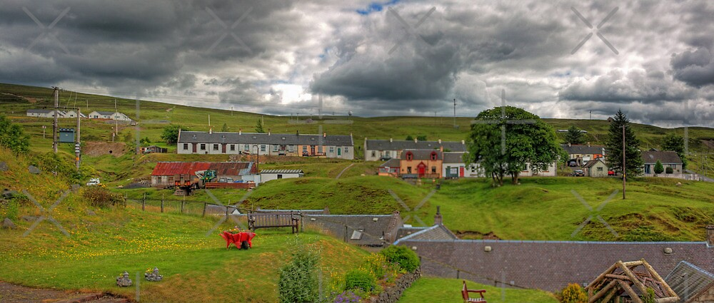 Wanlockhead Town View by Tom Gomez