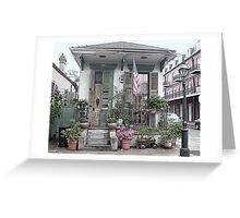 NOLA French Quarter House Greeting Card