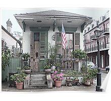 NOLA French Quarter House Poster