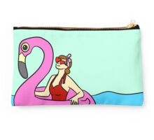 Flamingo Pool Floatie Studio Pouch