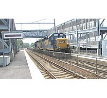6230 Double engine Freight Train Photographic Print