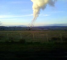 View from a speeding train by Margaret Walker