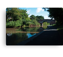 Worcester to Birmingham canal revisited Canvas Print