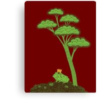 Frog Prince under a tree Canvas Print