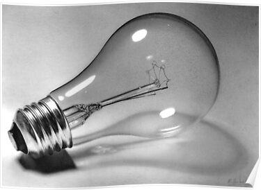 'End of an era' Lightbulb drawing by Matt Deakin