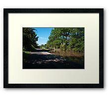 Canal Lock Framed Print