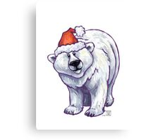 Polar Bear Christmas Canvas Print