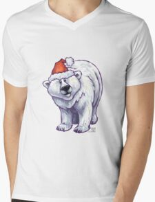 Polar Bear Christmas Mens V-Neck T-Shirt