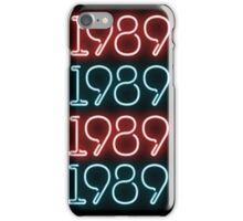 Taylor Swift 1989 Neon Signs iPhone Case/Skin