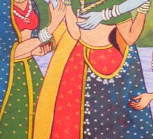 Radha Krishna with Gopiya Sticker