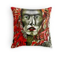 "Mask series ""Steel Mask."" Throw Pillow"