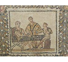 Gaming - Roman mosaic in Tunisia Photographic Print