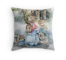 Off to Mouse School!   Throw Pillow