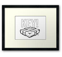 KEY! Brick Logo Framed Print