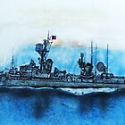 Finished work USS Ernest G Small DDR 838 Vietnam by David M Scott