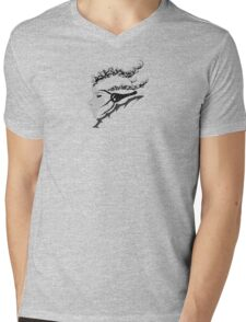 Portrait Mens V-Neck T-Shirt