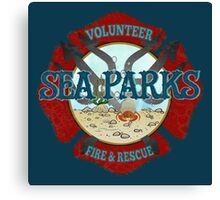 IT Crowd Inspired - Fire at Sea Parks - Sea Parks Volunteer Fire & Rescue - British Comedy Quotes Canvas Print