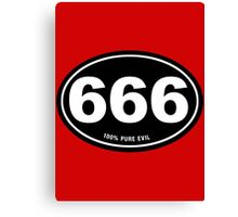 666 - Pure Evil Canvas Print