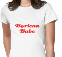 Boricua Babe Womens Fitted T-Shirt