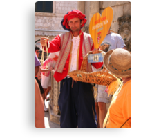 Street Vendor in Old Dubrovnik Canvas Print