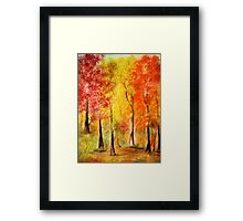 Colors of the Fall- Watercolor painting Framed Print
