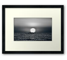 In Front Of The Sun Framed Print